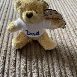 Embroidered Teddy Bear Keyring