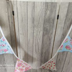 Shabby chic floral print bunting