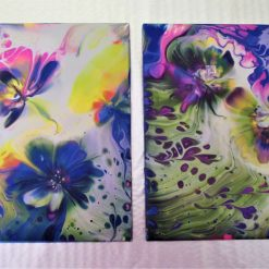 """""""SUMMER MEADOW"""" - A PAIR OF CERAMIC TILES"""