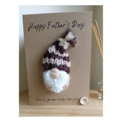 Knitted  gnome Father's Day card