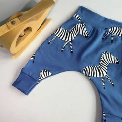 Zebra Harem pants from premature to one year old
