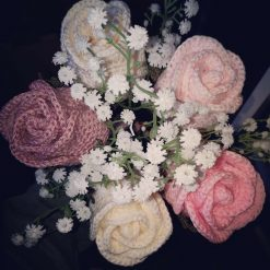 Crochet Roses in Pinks and Cream