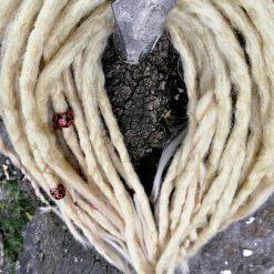 Handmade synthetic dreadlocks blonde mix