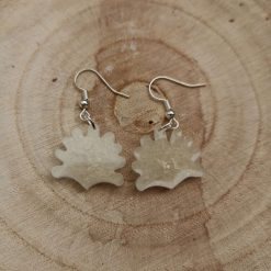 Cute cream Shell Earrings on a plated hook, Free UK Delivery