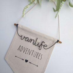 """vanlife adventures"" Canvas Banner"