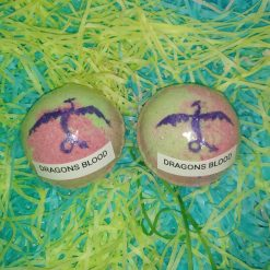 BATH BOMB - 2 LARGE - DRAGONS BLOOD - GIFT SET