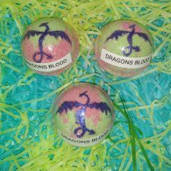 BATH BOMB - 3 MEDIUM - DRAGONS BLOOD - GIFT SET