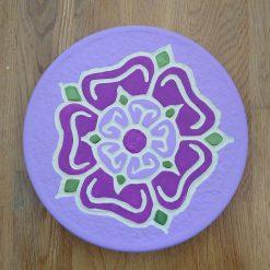 Flower Cement Cast Plaque