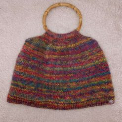 Cute fully lined hand knitted rainbow bag