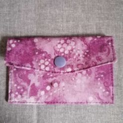 Coin and Card Wallet in Clock Fabric