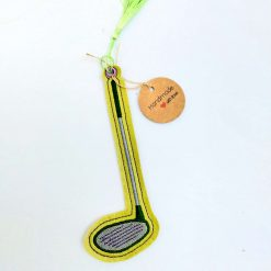 Green Golf Club Bookmark from Sand Bags, St Ives by Naomi