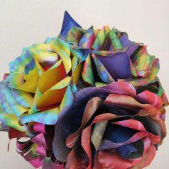 Colourful paper flower bouquet
