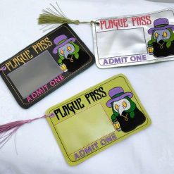 Plague Pass Vaccine Card Holder/Bookmark from Sand Bags, St Ives by Naomi