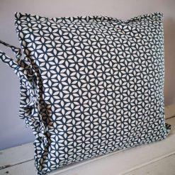 Cushion cover geometric monochrome print