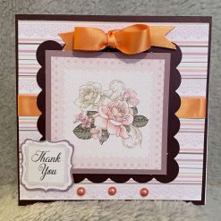 hand made card the vintage rose collection.