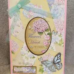 hand made card get well (from the hydrangea range)