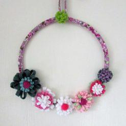 Fabric Felt Flower Wreath