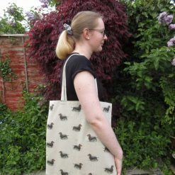Bee Portrait Large Lined Tote Bag