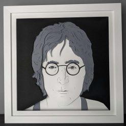 John Lennon Layered Paper Cut Portrait