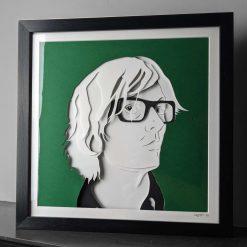 Jarvis Cocker Layered Card, Papercut Portrait