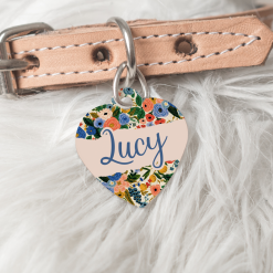 Personalised Dog Cat Pet ID Tag Double Sided Cute Heart Shape Dog Tag