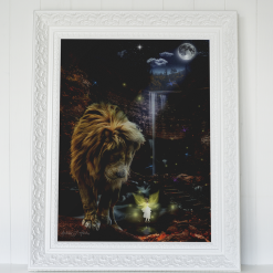 The Lion and the Fairy digital fantasy art print