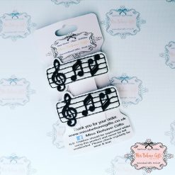 Music Note Hair Clips