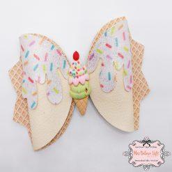 Ice Cream Sprinkles Hair Bow Clip