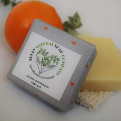 Orange & Bergamot Soap Bar 90g all natural handcrafted with love