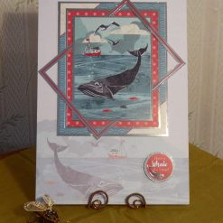 Framed Whale, Sea Scene, Any Occasion Card