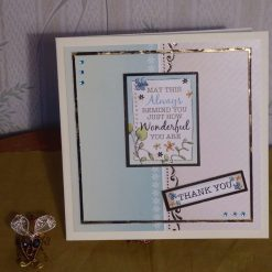 Teal Thank you card