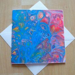 'Cells 1' Art printed greetings card