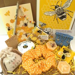 Bee themed letterbox gift present set