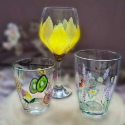 Hand painted glasss