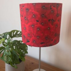 """Handmade Lampshade """"Poppy Fields"""" - Fabric Drum – Ceiling light/table-lighting - available in three sizes"""