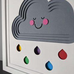 Rainbow Rain cloud with face