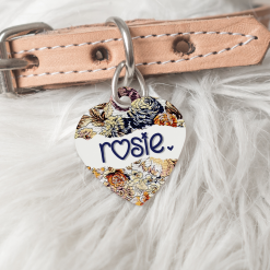 Personalised Dog Cat Pet ID Tag Double Sided Heart Shape Tag ♥