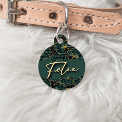 Personalised Name Dog Cat Pet ID Tag Double sided Circle Tag