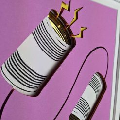 Tin Can Phone Layered Art