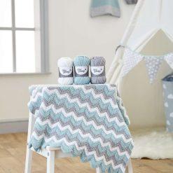 Knitting Kit - Zig Zag Blanket Kit - baby blanket