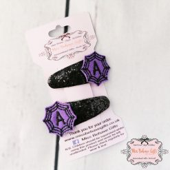 Spider Web Initial Hair Clips