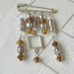 Handcrafted Memory Jewellery Beaded Kilt Pin Brooch