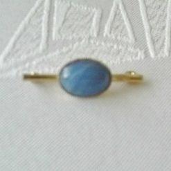 Blue Acrylic Cabochon Bar Booch