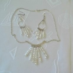 Modern Design Silver Plated AB Crystal Jewellery Set