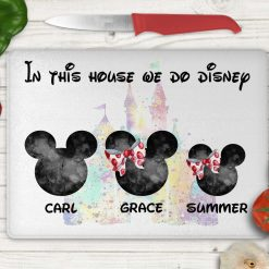 *FREE UK POSTAGE*Personalised chopping board, chef, kitchen gift, Disney inspired, mickey mouse, family