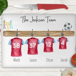 *FREE UK POSTAGE* Personalised chopping board, chef, kitchen gift, football, football gift, football shirt, family gift