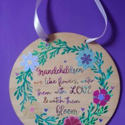 Wooden Plaque 15cm gift for Grandparents.