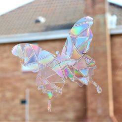 Rainbow Mix Butterfly SunCatcher Window Film Prism Sticker. Sun catcher Window Cling Decal Static Decoration.Maker Home,Car,Office,Caravan.June Gift 2