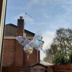 Rainbow Mix Butterfly SunCatcher Window Film Prism Sticker. Sun catcher Window Cling Decal Static Decoration.Maker Home,Car,Office,Caravan.June Gift 7
