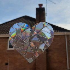 Rainbow Mix Hearts Suncatcher Window Film Prism Sticker. Sun Catcher Window Clings Decal Non Adhesive Decoration. Maker for Home, Car, Office, Caravan. Birthday Gift for Her, Mum, Nan, Kids, Friends 3